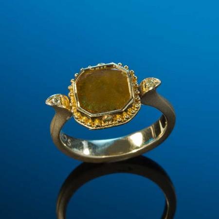 Butterscotch Diamond Ring