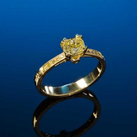 Canary Diamond Engagement Ring