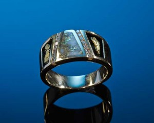 Mens California Gold Wedding Ring