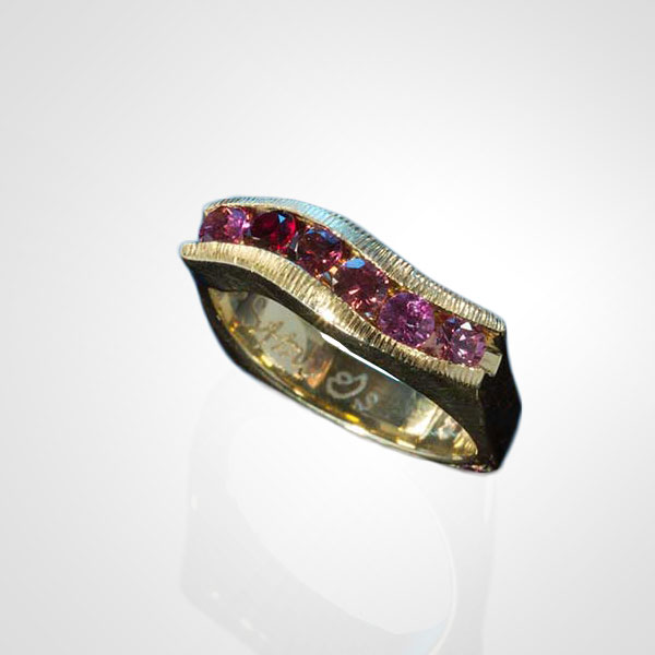 Pink Sapphire Channel Ring California Collectors
