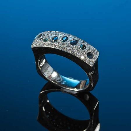 Alexandrite & Diamond Saddle Ring