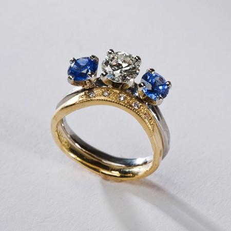 Blue Sapphire Ring Set