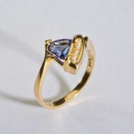 14k Gold Diamond Tanzanite