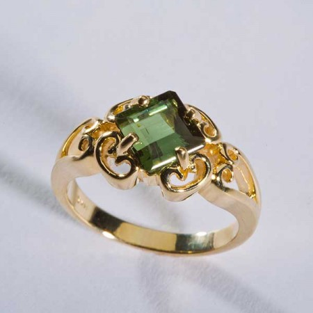 14k Gold Green Tourmaline