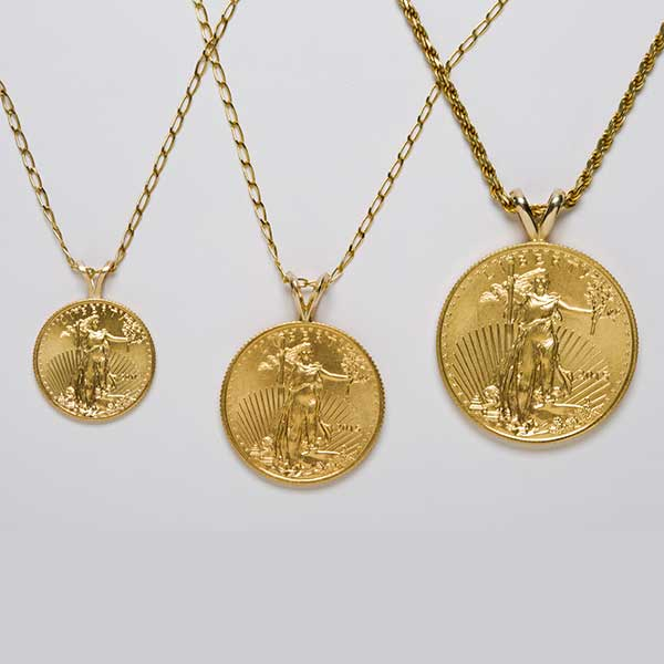 California collectors womens necklaces necklaces for women 22k standing liberty coin necklace mozeypictures Images