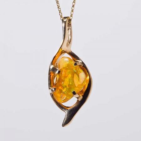 Orange Opal Pendant