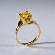14k Gold Yellow Sapphire