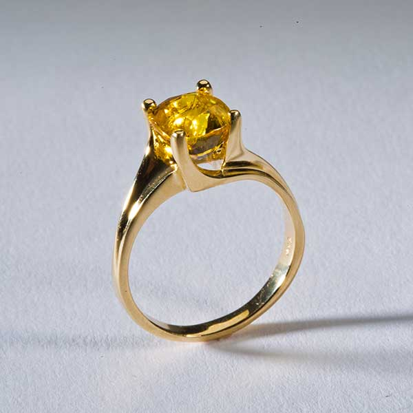 yellow sapphire ring in 14k goldcalifornia collectors