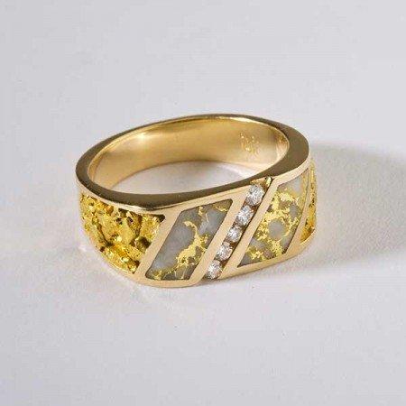 Men's Slant Set Diamond Ring