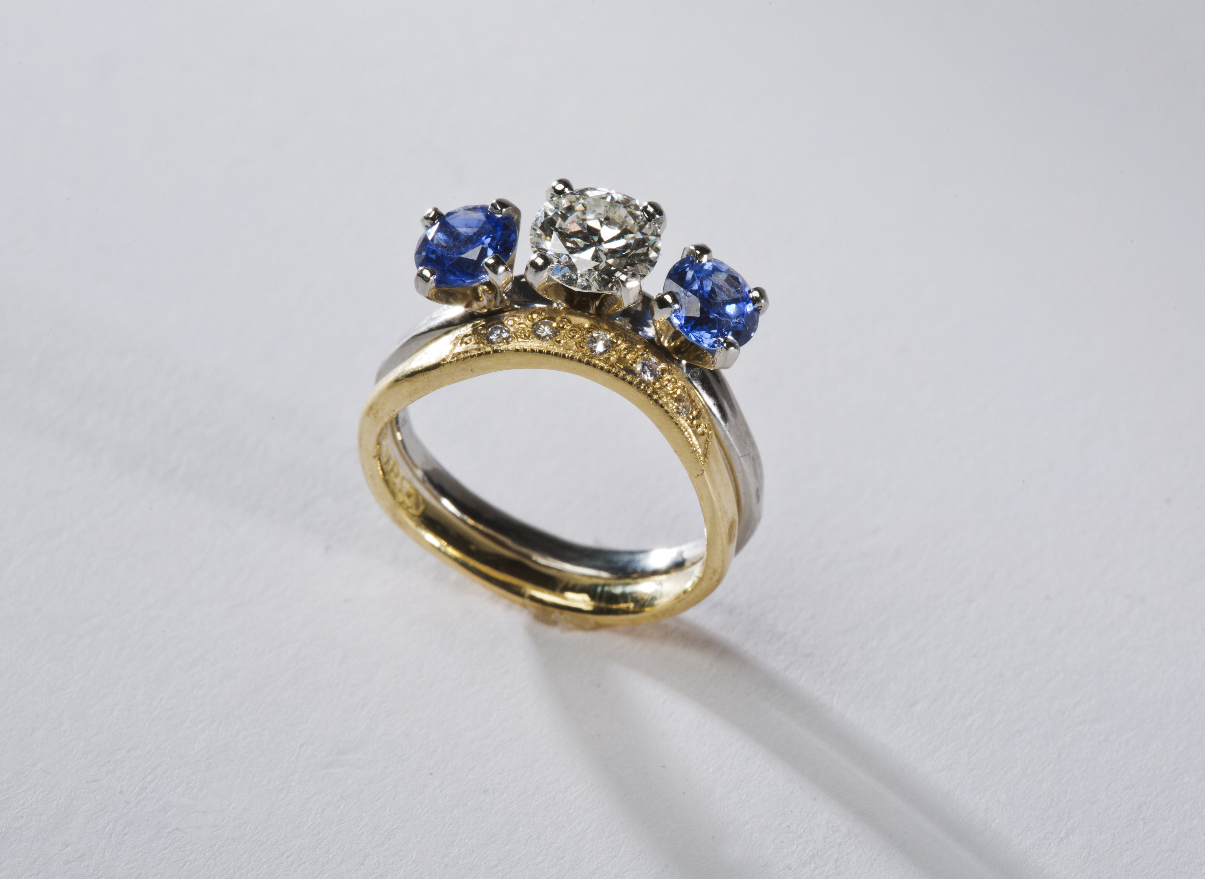 Marriage Ring With Saphire